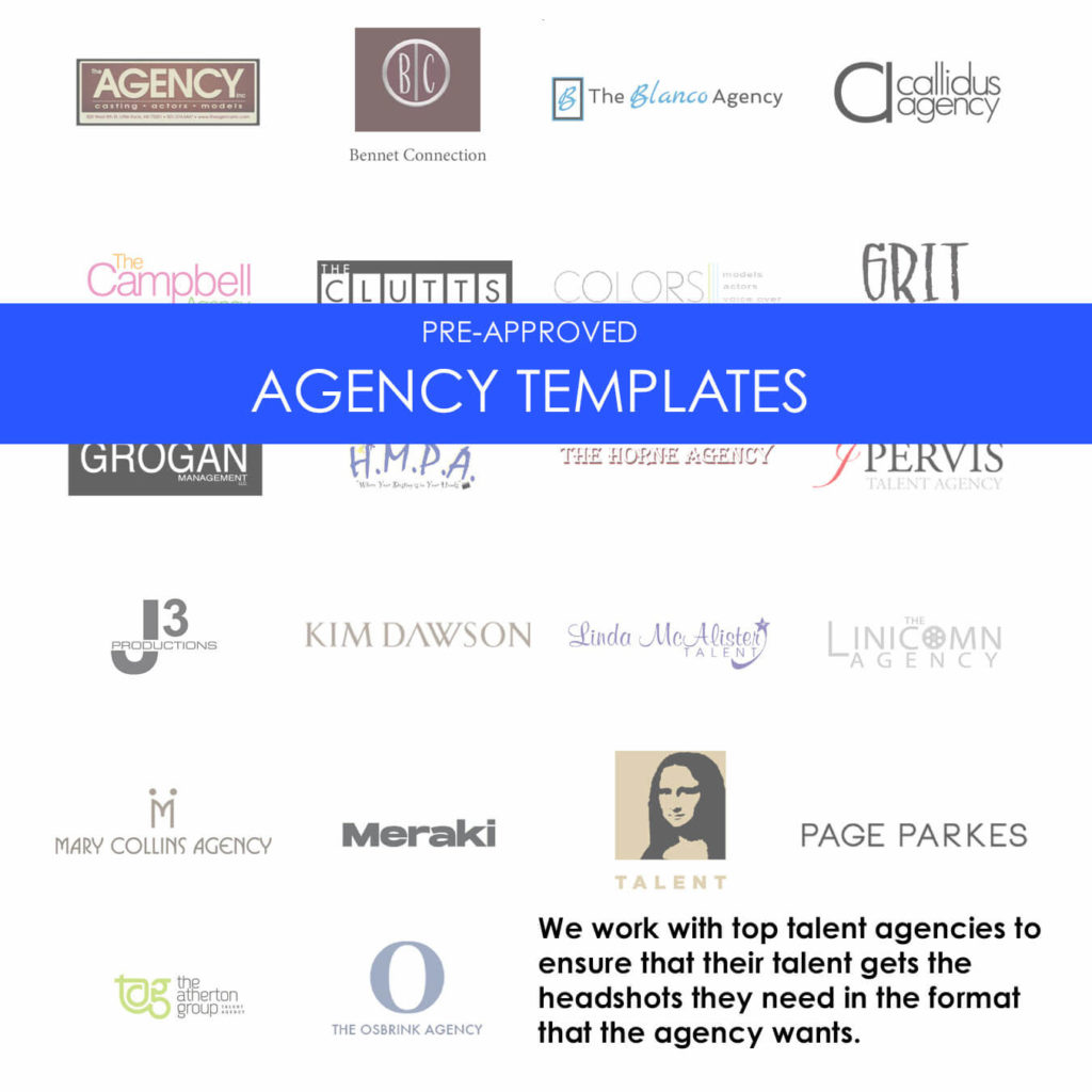 Pre-Approved Agency Templates for Headshots