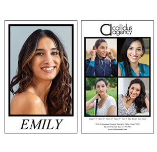Comp Card Printing (Agency Template)
