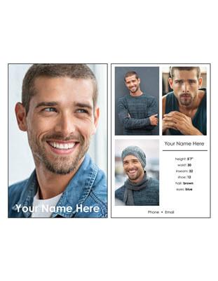 Custom Comp Card Template A