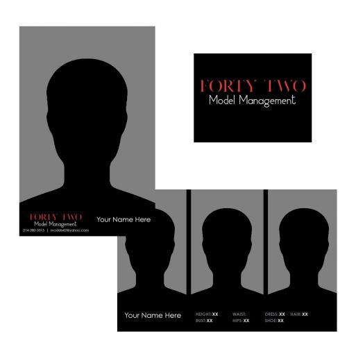 Forty Two Model Management Comp Card Template