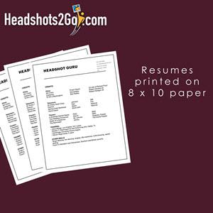 Resume Printing